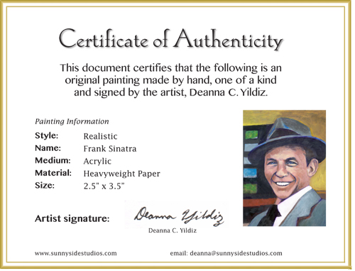 Design layouts sunnyside studiossunnyside studios for Artist certificate of authenticity template
