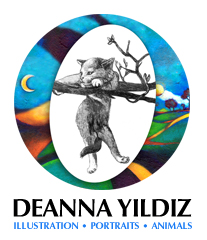 Cat artwork logo icon