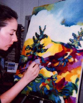 Deanna Yildiz painting