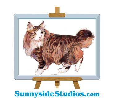 Logo design with cat art