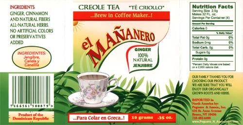 Design of Ginger tea package created by Deanna Yildiz