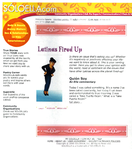 Soloella website design