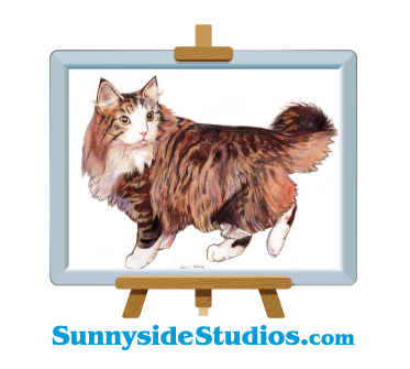 Logo design with cat art