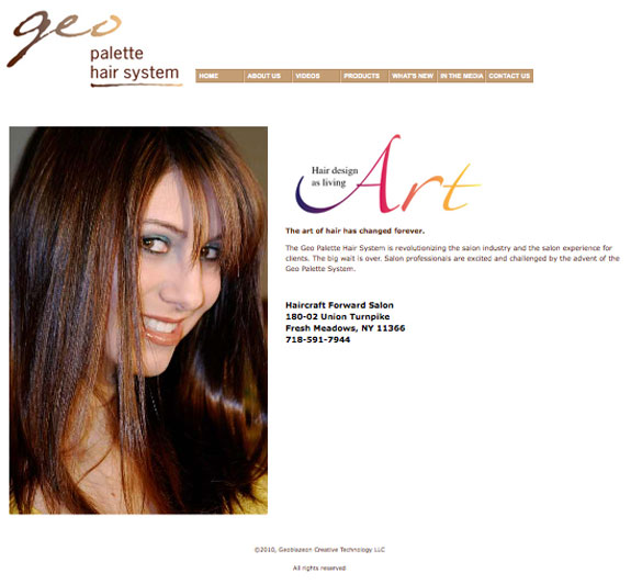 Hair Salon tool website